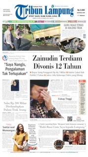 Cover Tribun Lampung 26 April 2019