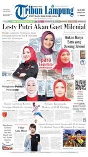 Tribun Lampung Cover 01 May 2019