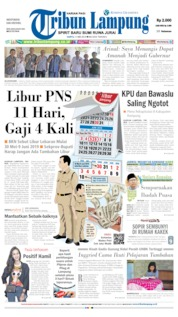Tribun Lampung Cover 11 May 2019