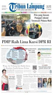 Cover Tribun Lampung 13 Mei 2019