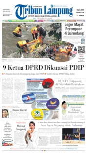 Tribun Lampung Cover 15 May 2019
