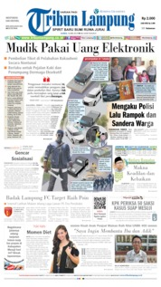 Tribun Lampung Cover 16 May 2019