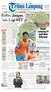 Tribun Lampung Cover 18 May 2019