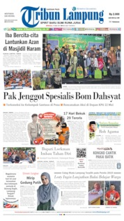 Tribun Lampung Cover 19 May 2019