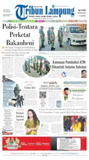 Tribun Lampung Cover 20 May 2019