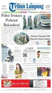 Cover Tribun Lampung 20 Mei 2019