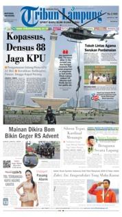 Cover Tribun Lampung 21 Mei 2019