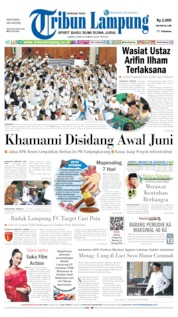 Tribun Lampung Cover 24 May 2019
