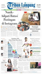 Tribun Lampung Cover 25 May 2019