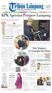 Tribun Lampung Cover 26 May 2019