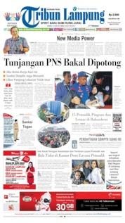 Cover Tribun Lampung 10 Juni 2019