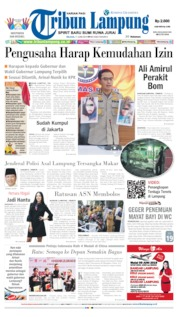 Cover Tribun Lampung 11 Juni 2019