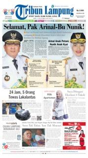 Cover Tribun Lampung 12 Juni 2019