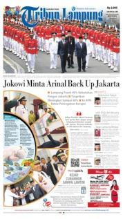 Cover Tribun Lampung 13 Juni 2019