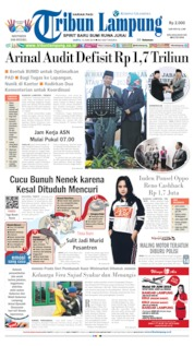 Cover Tribun Lampung 15 Juni 2019