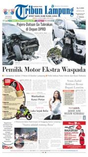 Cover Tribun Lampung 16 Juni 2019