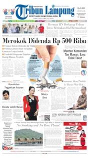 Cover Tribun Lampung 20 Juni 2019