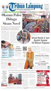 Cover Tribun Lampung 21 Juni 2019