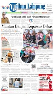 Cover Tribun Lampung 22 Juni 2019
