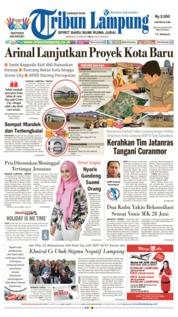 Cover Tribun Lampung 23 Juni 2019