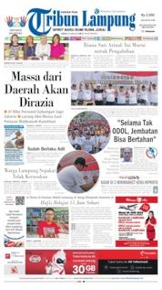 Cover Tribun Lampung 24 Juni 2019