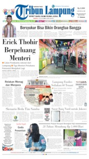 Tribun Lampung Cover 07 July 2019