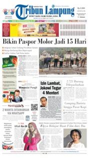 Cover Tribun Lampung 09 Juli 2019