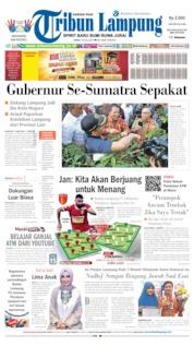 Cover Tribun Lampung 10 Juli 2019