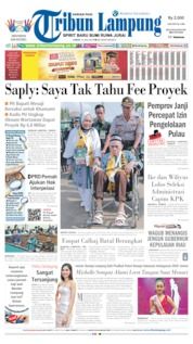 Tribun Lampung Cover 12 July 2019