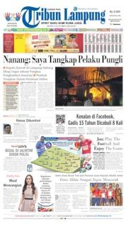 Cover Tribun Lampung 16 Juli 2019
