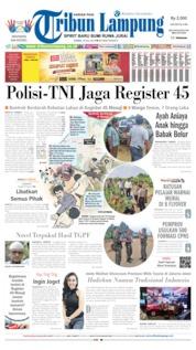 Cover Tribun Lampung 18 Juli 2019
