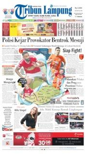 Cover Tribun Lampung 22 Juli 2019