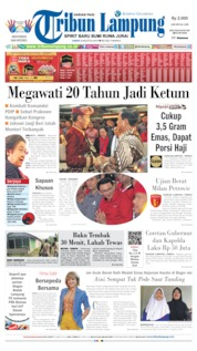 Cover Tribun Lampung 09 Agustus 2019