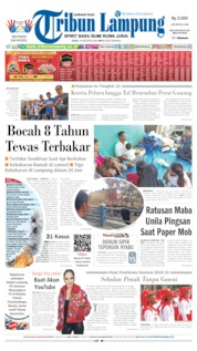 Tribun Lampung Cover 14 August 2019