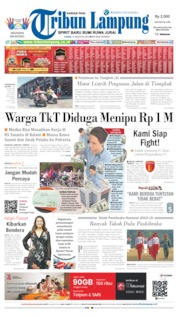 Tribun Lampung Cover 15 August 2019