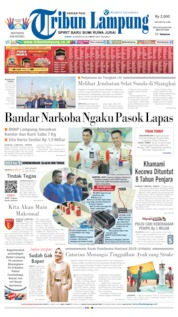 Tribun Lampung Cover 16 August 2019