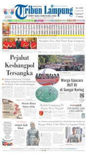 Tribun Lampung Cover 18 August 2019