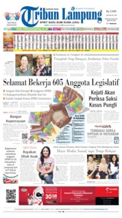 Tribun Lampung Cover 19 August 2019