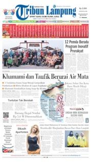 Cover Tribun Lampung 23 Agustus 2019