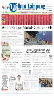 Cover Tribun Lampung 08 September 2019