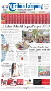 Cover Tribun Lampung 09 September 2019