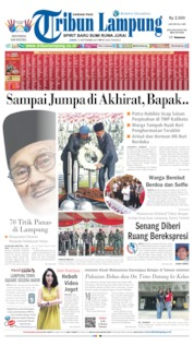 Tribun Lampung Cover 13 September 2019
