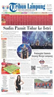 Cover Tribun Lampung 15 September 2019