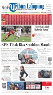 Cover Tribun Lampung 16 September 2019