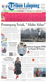 Cover Tribun Lampung 18 September 2019
