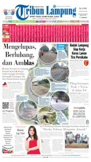 Cover Tribun Lampung 21 September 2019