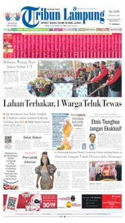 Cover Tribun Lampung 23 September 2019