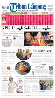 Cover Tribun Lampung 28 September 2019