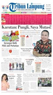 Cover Tribun Lampung 29 September 2019