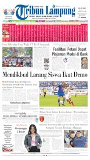Cover Tribun Lampung 30 September 2019